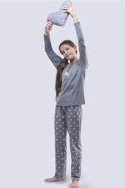 Момичешка пижама Meow сива