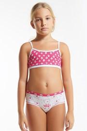Комплект за момичета от топ и бикини Flower Pink