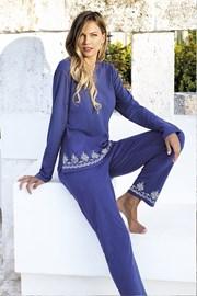 Дамски летен комплект Santorini син