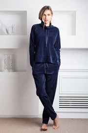 Дамски домашен комплект Giada син