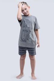 Пижама за момчета Live Untamed сива