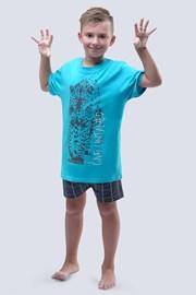 Пижама за момчета Live Untamed тюркоазена