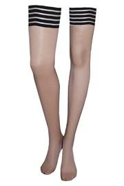 Чорапи за жартиери Kylie Stripe