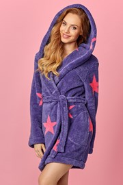 Дамски халат Star виолетов