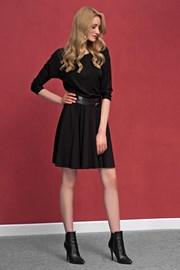 Дамска романтична рокля от трико Altea Black
