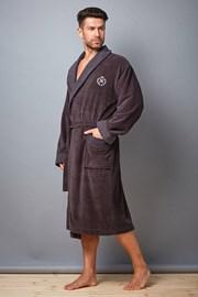 Мъжки халат Clint Grafit от бамбуково влакно