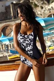 Цял дамски стягащ бански curves Fiji Black