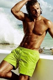 Мъжки бански шорти DAVID 52 Edgar Lime