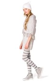 Памучен чорапогащник за момичета Delycy екрю