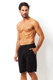Мъжки черни памучни шорти