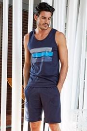 Мъжки памучен комплект Giorgio navy