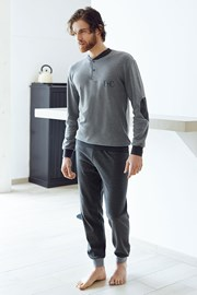 Мъжки памучен комплект Angelo сив