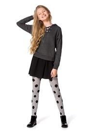 Памучен чорапогащник за момичета Febe сив