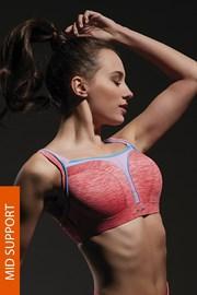 Спортен сутиен Flow Pink с банели