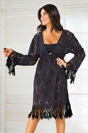 Дамска италианска лятна рокля Iconique IC8010 Black