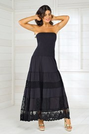 Дамска италианска лятна рокля Iconique IC8016 Black