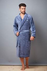 Мъжки халат Jason Melange Navy