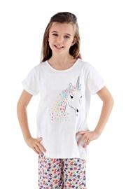 Пижама за момичета Polly дълга бяла