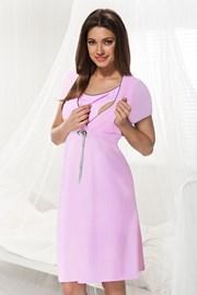 Нощничка за бременни и кърмачки Dorota розова
