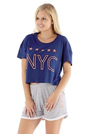 Дамска пижама NYC navy