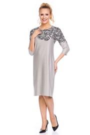 Дамска елегантна рокля Livia Beige
