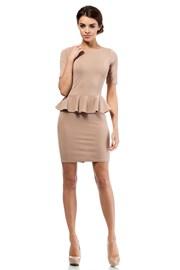 Дамска рокля с волан Moe014