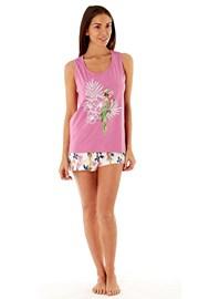 Дамска къса памучна пижама Parrot Pink