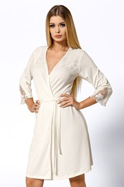 Луксозен халат Salomea Ecru