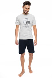 Мъжка пижама RÖSSLI Miami Šedé