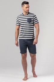 Мъжка пижама RÖSSLI Navy Stripes