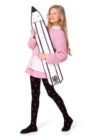 Памучен чорапогащник за момичета Solana черен