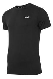 Мъжка фланела за фитнес 4F Dry Control Black