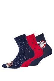 3 pack дамски чорапи с мотив 998