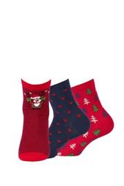 3 pack дамски чорапи с десен  999