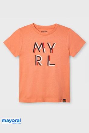 Детска тениска Mayoral Apricot