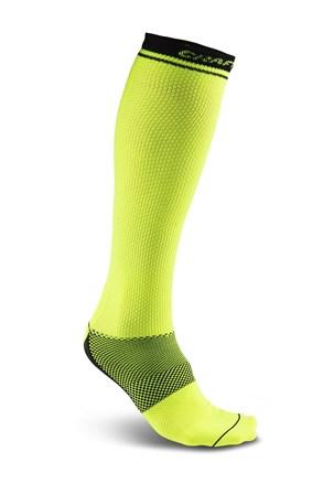 Три четвърти чорапи CRAFT Body Control в неоново жълто