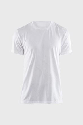 Мъжка фланела CRAFT Essential бяла с мотив