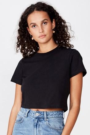 Черна дамска basic блуза с къс ръкав Baby