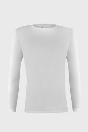 Бяла фланела с дълъг ръкав Cotton Nature