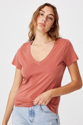 Керемидена дамска basic блуза с къс ръкав One