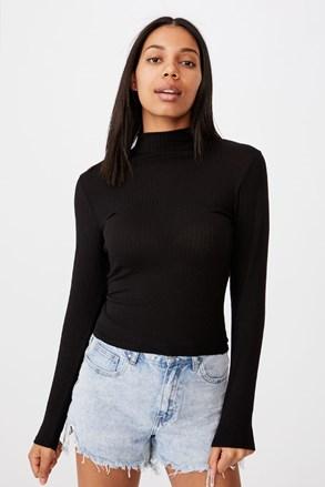 Черно дамско basic поло Mila
