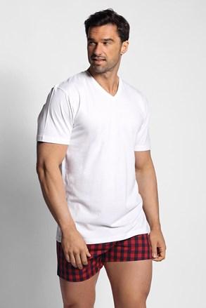 Пижамен сет от тениска и карирани шорти