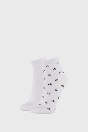 2 PACK дамски бели чорапи Calvin Klein Gretchen