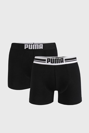 2 PACK черни боксерки Puma Placed Logo