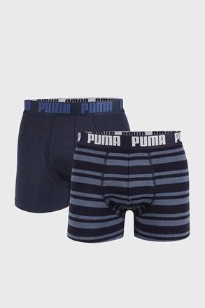 2 PACK тъмносини боксерки Puma Heritage Stripe
