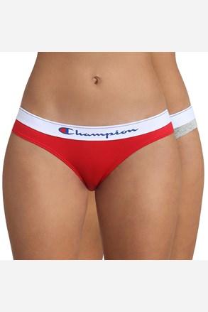 2 PACK дамски бикини Champion сиво-червени