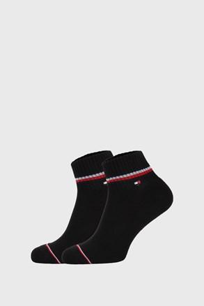 2 PACK черни чорапи до глезена Tommy Hilfiger Iconic