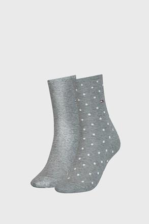 2 PACK дамски чорапи Tommy Hilfiger Dot Grey