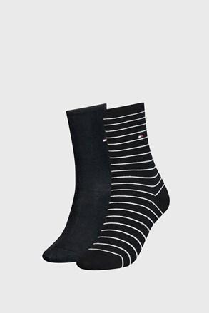 2 PACK дамски чорапи Tommy Hilfiger Small Stripe Black