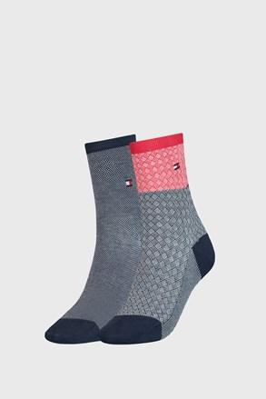 2 PACK дамски чорапи Tommy Hilfiger Argyle III